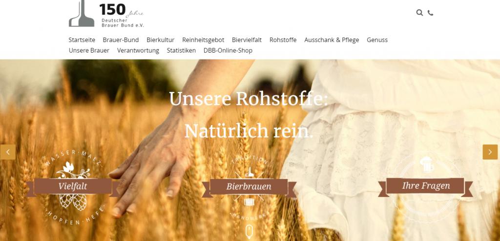 Der deutsche Brauerbund zur Homepage